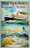Blechschild Lloyd Norte Aleman Dampfer Passagierschiff Schild Nostalgieschild