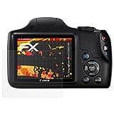 atFoliX Folie für Canon PowerShot SX540 HS Displayschutzfolie - 3 x FX-Antireflex-HD hochauflösende entspiegelnde Schutzfolie