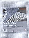 Teppich-Stop Antirutschmatte Teppichgleitschutz Teppichunterlage Haftgitter Rutschschutz, PVC beschichtetes Polyester, rutschhemmend zuschneidbar pflegeleicht strapazierfähig, weiß, 160 x 230 cm