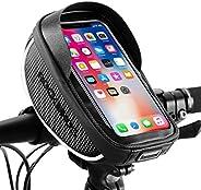 RockBros Bike Phone Bag Waterproof Handlebar Bicycle Phone Case Sensitive Phone Mount Bag Holder Compatible wi