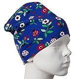 JNY Colourful Kids - Mädchen Baby Übergangsmütze Beanie LADYBUG in blau Größe 44-46 (Kopfumfang 44-46)
