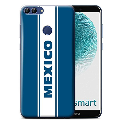 Stuff4® Hülle/Case für Huawei P Smart/Mexico Streifen Muster/Straßenrennen Kollektion (Smart Escort)