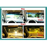 PETRICE Day and Night Visor Car Sun Visor HD Vision Visor Anti-Dazzle Mirror Clear View for Driver Safety