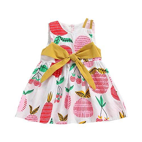 sunnymi  ® 0-24 Monate Kleider Baby Mädchen Ärmellos Bogen Prinzessin Bling Kostüme Party Tutu ()