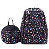 Babyhugs 3Ultra Light Wickeln Windel Rucksack Rucksack Tasche mit Ballons Kleinkind Sicherheitsgeschirr Rucksack–Schwarz