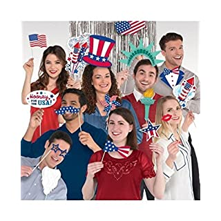 Amscan International 398377 Scene Setter American Decoration Set