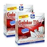 2x Dr. Becher Galakor T10 Geschirr Reiniger Tabs 100 Tabs