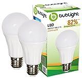 2x Bublight LED Lampe E27 9W, ersetzt 52W Glühbirnen, Energieklasse A+ (E-A ++), 2700 Kelvin warmweiß Glühlampe Halogen LED-Glühlampen Leuchte