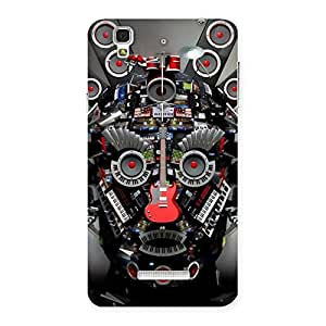 Impressive Face of Music Back Case Cover for YU Yureka Plus