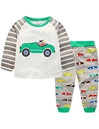 Chicos Conjuntos de pijama Ropa de dormir de bebé de manga larga tamaño 2 años-
