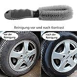 Auto Felgen Reifen Speichen Reinigungsbürste Felgenbürste zur schonenden und effektiven Reinigung hochwertiger Optimale Felgenreinigung für Stahl und Alufelgen Scheuern Werkzeug