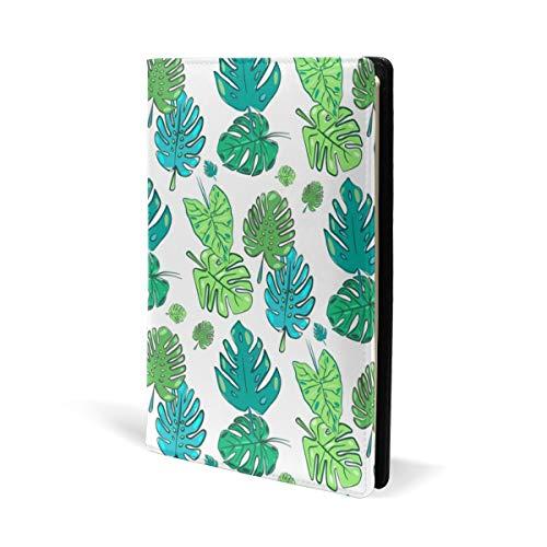 Hawai Aloha Tropical Palm Green Exotic Book Cover Leder Schule Büro Notizbuch Lehrbücher Paperback Hardcove A5 14,8 x 22,9 cm für Mädchen Jungen