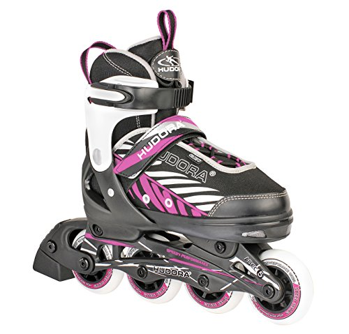 HUDORA Kinder Inliner Mia - Gr. 37 - 40, schwarz/pink - Inline-Skates - 28140