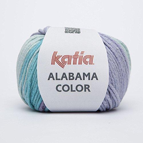 Katia Alabama Color Fb. 105 - azules/lilas Baumwollgarn mit Farbverlauf zum Stricken & Häkeln