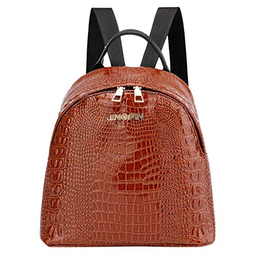 a4c5e91915862 Kleiner Rucksack Mädchen Damen Krokodilmuster Tasche Mode Schultasche  Student Rucksack School Bag Umhängetasche Fashion Backpack Shoulder