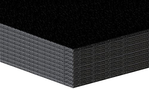 10 Stück Leichtschaumplatten, Leichtstoffplatten 5mm SCHWARZ Format: A3 (29,7x42cm)