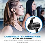 Bluetooth Headphones, TaoTronics Wireless Headphones, Bluetooth 4.1 Magnetic Sweatproof Sports Earphones with CVC 6.0 Noise Cancelling and 8 hours Playtime