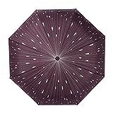 Creative Raindrops Regenschirm, NNIUK Folding Fancy Regenschirm Winddicht Automatic Open & Close für Reisen, Kaffee