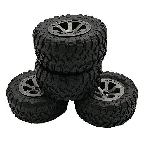 Fcostume 4 stücke Upgrade Track Räder Ersatzteile Für 1/16 WPL B14 C24 Militär LKW RC Auto (schwarz)
