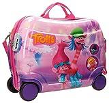 """Trolley """"cavalcabile"""" di 41 cm x 34 cm x 20 cm. Capacità 25 L, peso 1,8 kg. Realizzato in ABS, un materiale rigido e leggero. Cinghie elastiche in entrambi i lati per mantenere il bagaglio ben organizzato Quattro ruote e tracolla regolabile c..."""