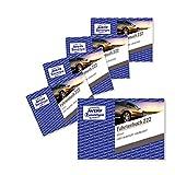 AVERY Zweckform 222-5 Fahrtenbuch (für PKW, vom Finanzamt anerkannt, A6 quer, 80 Seiten insgesamt 390 Fahrten, für Deutschland und Österreich zur Abgrenzung privater/geschäftlicher Fahrten) 5er-Pack