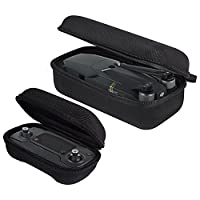 Kingwon Semi-Hard Storage Case for Quadcopter DJI Mavic Pro Foldable Drone and Remote Controller,Small Portable Carrying Bag Box(Controller Zipper Case+Drone Zipper Case)