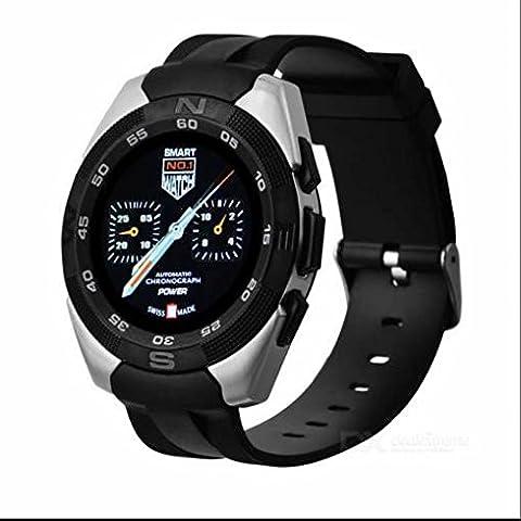 Vollmetallgehäuse Sport Smartwatch Schlafüberwachung smartwatch,sesshaft erinnern,Anrufe tätigen oder empfangen,Edelstahlgehäuse,24 Stunden Pulsmesser Sport uhr für Android Samsung,HTC,Sony,LG,Blackberry,Huawei
