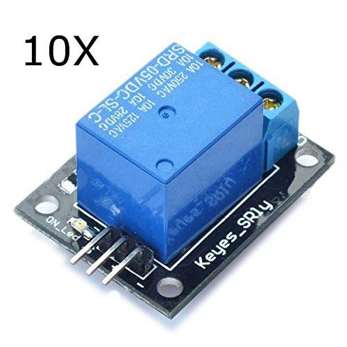 Ils - 10 Stück 5V Relaismodul 5-12V TTL Signal 1-Kanal High Level Expansion Board für Arduino Signal-relais