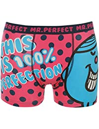 Mens Novelty Underwear Mr Single Print Boxer Trunks