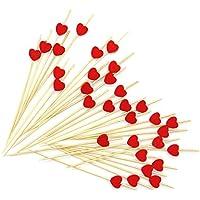 Lumanuby - 100 palillos de madera para cócteles, palillos de dientes, con forma de fruta, para boda, fiesta o uso en el hogar