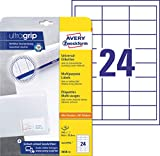 AVERY Zweckform 3658-10 Adressaufkleber (mit ultragrip, 64,6 x 33,8 mm auf DIN...