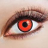 aricona Farblinsen deckend rote Kontaktlinsen Halloween Linsen zum Vampir Kostüm