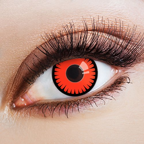 aricona Kontaktlinsen deckend rote Kontaktlinsen Halloween Linsen zum Vampir Kostüm