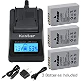 [Fully Decoded] Kastar Ultra Fast Charger(3X Faster) Kit And EN-EL24 Battery (3-Pack) For Nikon EN-EL24 ENEL24 Rechargeable Li-ion Battery Work With Nikon 1 J5 Camera