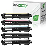 Kineco 5 Toner kompatibel für Brother TN-242 TN-246 für Brother DCP-9017CDWG1 9017CDWG1 9022CDW HL-3142CW 3152CDW 3172CDW MFC-9142CDN 9342CDW 9332CDW - Schwarz je 2.500 Seiten, Color je 2.200 Seiten