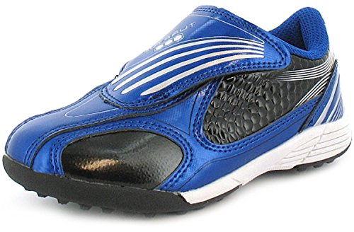 childrens-boys-blue-touch-fastening-astro-turf-football-trainers-navy-silver-uk-size-11