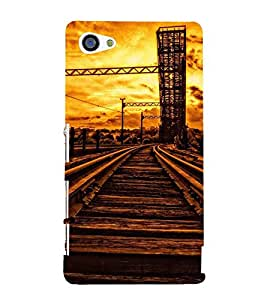VINTAGE RAILWAY TRACK AT SUNSET 3D Hard Polycarbonate Designer Back Case Cover for Sony Xperia Z5 Compact :: Sony Xperia Z5 Mini