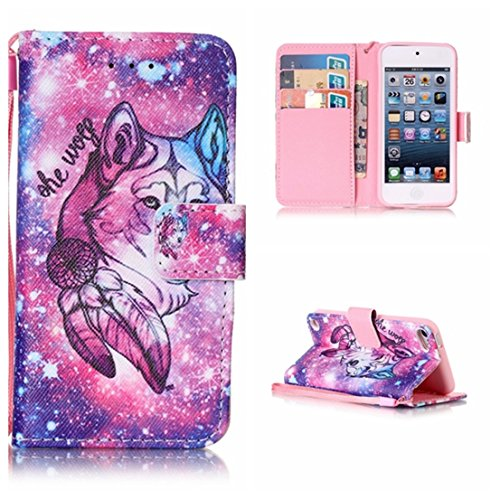 Voguecase Per Apple iPod Touch 5/iPod Touch 6,(lupo 04) Elegante