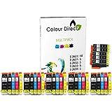 30 XL (5 juegos + 5 Grande Negro) ColourDirect Cartuchos de tinta compatibles Reemplazo Para EpsonXP-510 XP-600 XP-605 XP-610 XP-615 XP-620 XP-625 XP-700 XP-720 XP-800 XP-810 XP-820 Impresoras. - 26 XL