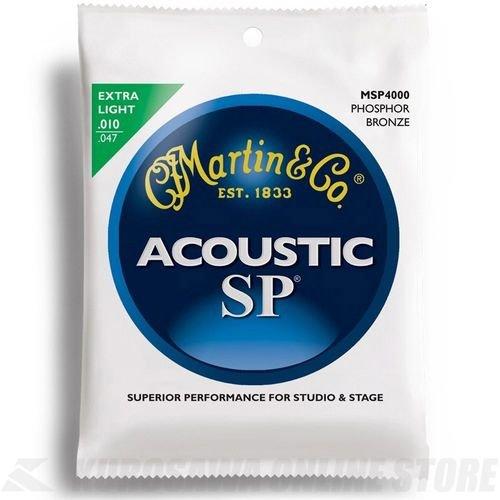 Martin SP Gitarrensaiten für Akustikgitarren (92/8, Phosphor-Bronze-Umwicklung, Stärke Extra Light 0.010 - 0.047) (Western Electric Sound)