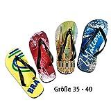Flip Flops / Badelatschen - mit individuellem Fotodruck - verschiedene Größen für Klein bis Groß, Größe:S 35-40