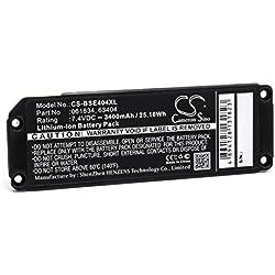 vhbw Li-ION Batterie 3400mAh (7.4V) pour Haut-parleurs Enceintes Bose Soundlink Mini