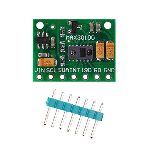 Lysignal MAX30100 Pulse Oximeter Heart Rate Sensor Module for Arduino for Wearable Health Fitness Assistant Devices Medical Monitoring Devices Monitor Relay