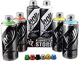 Loop Graffiti - Set di bombolette spray con colori di base, 6 x 400 ml + testine di ricambio