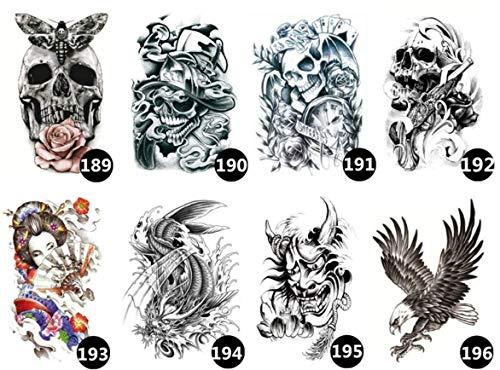 ruofengpuzi Temporäre Bar Nachtclub Langlebige Arme Ukiyo Gemalte Blume Arm Tattoo Aufkleber Tattoo Rose Half Wing Geisha Art Tattoo 8Ps (Halloween Make-up Geisha Kostüm)