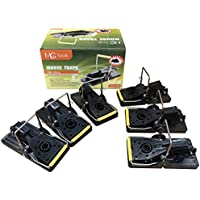 MLG Tools Mouse Trap Instantly Quick Response 6 PACK, Best Humane Kill - Easy Reusable Mouse Control Snap Traps Set