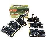 MLG Tools 6 Pack Premium Ratoneras Profesionales en plástico y acero inoxidable, reutilizables, mas efectivas que las trampas convencionales