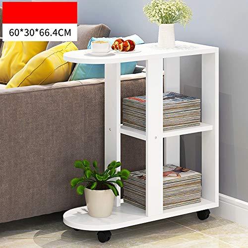 Klapptisch Feifei Einfaches modernes Sofa-Beistelltisch-Aktenschrank-Informations-Kabinett-Wohnzimmer-Speicher-Kabinett (Farbe : 03) (Aktenschrank Beistelltisch)