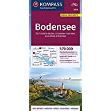 KOMPASS Fahrradkarte Bodensee 1:70.000, FK 3333: reiß- und wetterfest mit Extra Stadtplänen (KOMPASS-Fahrradkarten…