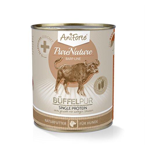 AniForte® PureNature easyBarf Single Protein 800g 100% Fleisch Hundefutter- Naturprodukt für Hunde (Büffel Pur, 6x800g) - 3
